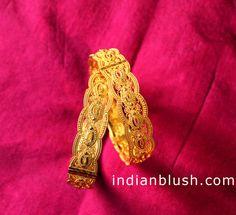 Bengali gold Chur design/ Gold flat bangle design
