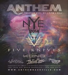 New Year's Eve 2013/14 at Anthem!