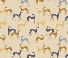 Sighthounds fabric by lobitos on Spoonflower - custom fabric