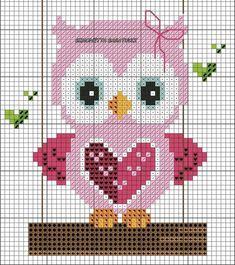 Gufetti For Outdoor Cross Point Diagram - Diy Crafts - maallure Cross Stitch Owl, Butterfly Cross Stitch, Cross Stitch For Kids, Cross Stitch Cards, Cross Stitch Animals, Cross Stitch Designs, Cross Stitch Flowers, Cross Stitching, Cross Stitch Embroidery