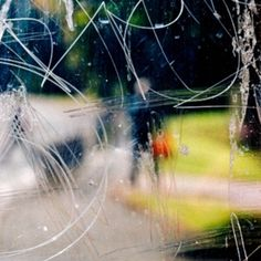 Abstract Photography: Stephen Calcutt's 'Bus Stop' Graffiti Photo Series
