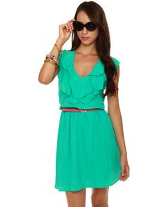 Simple sundress with a cute pair of sandals or wedges will do!  Ocean View Turquoise Halter Dress