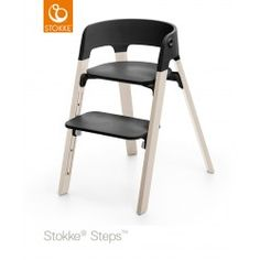 Stokke Steps Kinderstoel Black White Wash