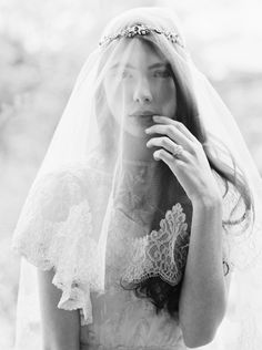 Fall/Winter 2015 Enchanted Atelier by Liv Hart Collection Bridal Accessories - Lace veil