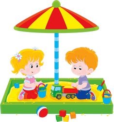 Illustration of Little girl and boy playing in a sandbox vector art, clipart and stock vectors. Free Vector Images, Vector Free, School Images, Kids Calendar, Boys Playing, Parks And Recreation, Drawing For Kids, Happy Kids, Fabric Painting