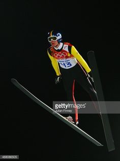 Andreas Wellinger of Germany jumps during the Men's Normal Hill Individual trial on day 2 of the Sochi 2014 Winter Olympics at the RusSki Gorki Ski...