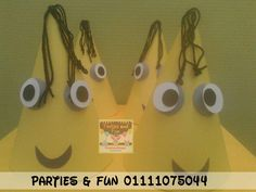 Minions Hat party.  to make order plz call us or whatsapp 01111075044 facebook: partiesandfunegypt.