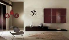 Small Om Symbol Wall Decal Sticker Buddha Absolute Brahman Hindu * To view further for this item, visit the image link.