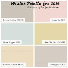 Paint Colors for 2014 - Find your season's palette!  #myperfectcolor  #colorschemes #paintcolors2014