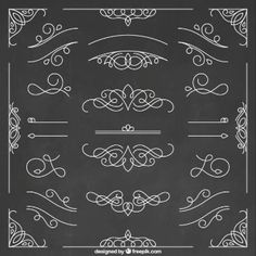 Hand Drawn Ornamental Elements Collection