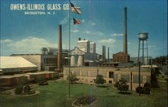 Bridgeton NJ Owens-Illinois Glass Co Plant Postcard