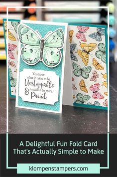 Fancy Fold Cards, Folded Cards, 3d Cards, Stampin Up Cards, Slider Cards, Handmade Card Making, Cardmaking And Papercraft, Card Making Tutorials, Butterfly Cards