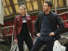 David Nolan's Black Leather Jacket on Once Upon A Time