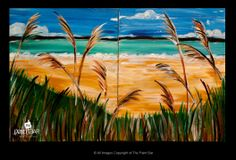 Beach Dunes Doubles Painting - Jackie Schon, The Paint Bar