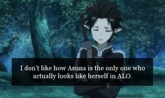 «SWORD ART ONLINE CONFESSIONS» no she doesn't..oh! Do you mean in the first season?