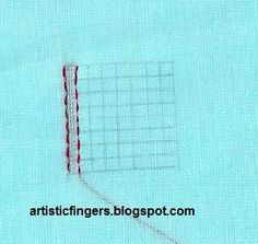 artisticfingers: Lesson 8 - Chikan embroidery sal