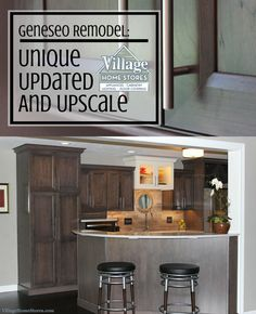 """Gray stained #cherry #cabinets in the """"Caraway"""" finish.   