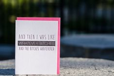 Youre the worst card with envelope mean greeting card funny letterpress whatever bitches greeting card m4hsunfo