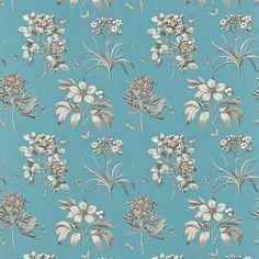 Sanderson Etchings and Roses fabric. DPFPET203. On Curtain Up website
