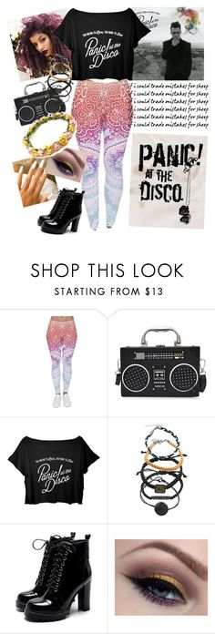 """""""Panic at the Disco"""" by undercover-fangirl ❤ liked on Polyvore featuring Hot Topic"""