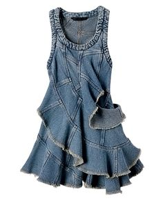 I have a ton of old jeans to cut up and first in line to make? This kind of dress!  cute!