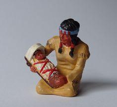 Hausser Elastolin ref : 6833 Indienne à genoux avec son enfant peinture 2a