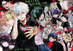 "Tokyo Ghoul - A Touka e a Rize estão tipo ""Bitch,please"" Kaneki, Haise, Tsukiyama, Joker, Anime Version, K Idol, Creatures, Fan Art, Artist"