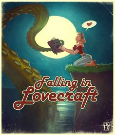 Falling in LOVEcraft by Antonio De Luca on ArtStation. Call Of Cthulhu, Lovecraftian Horror, Cosmic Horror, Travel Art, Fantasy Art, Lovecraft Art, Art, Eldritch Horror, Innsmouth