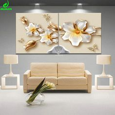 Lotus White Flower Canvas Print Poster Modular Pictures Paintings For The Kitchen Picture Of The Room Nordic Decoration 2 PCS. Subcategory: Home Decor. Living Room Canvas Painting, Canvas Wall Decor, Canvas Art Prints, Wall Art Prints, Canvas Paintings, Clay Wall Art, Canvas Home, Canvas Canvas, Flower Canvas