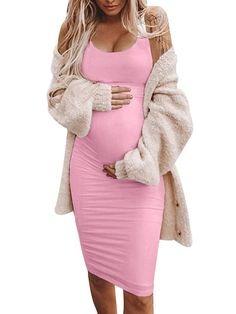 Maternity Bodycon Dresses, Casual Maternity Outfits, Plus Size Maternity Dresses, Maternity Dresses Summer, Summer Maternity Fashion, Mom Outfits, Cute Maternity Clothes, Pregnancy Clothes, Gender Reveal Outfit