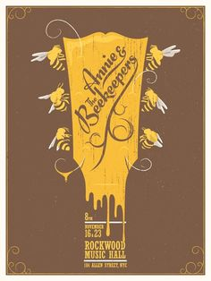Awesome Concert Posters | Matthew Fleming concert poster | Awesome Posters