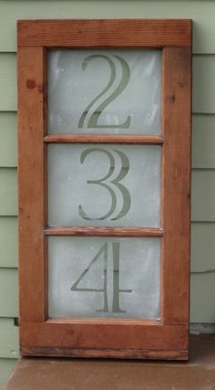 Solar address lights are a great idea. They are economic, eco-friendly and make finding the house in the dark a breeze. Browse the designs below and find a light which will add character to your driveway. Porch Number, Solar House Numbers, Old Window Projects, House Address, Arts And Crafts House, Old Windows, Light Installation, Home Signs, Solar Lights