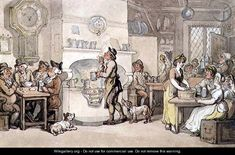 Inn Interior - Thomas Rowlandson