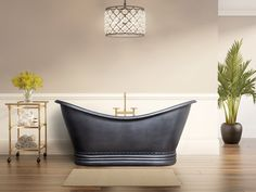 Copper Double Slipper Hammered Bathtub, Hammered  Exterior & Interior, Finish MATT BLACK EXTERIOR & INTERIOR Copper Tub, Copper Bathroom, Pure Copper, Black Exterior, Clawfoot Bathtub, My Dream Home, Master Bedroom, It Is Finished, Pure Products