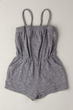 american apparel romper. Girls makes me want to wear these, for some reason.