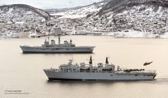 HMS Illustrious and HMS Bulwark off Norway | by Defence Images