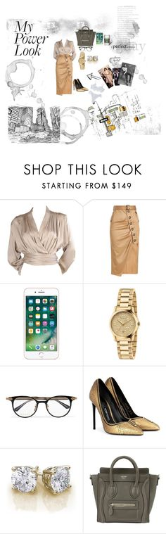 """""""Power Look Modern Business Women."""" by raenicolesims on Polyvore featuring Yves Saint Laurent, self-portrait, Gucci, Tom Ford, CÉLINE and modern"""