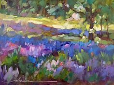 """Daily Paintworks - """"Lavender Peace and a Postcard Giveaway!"""" - Original Fine Art for Sale - © Dreama Tolle Perry"""