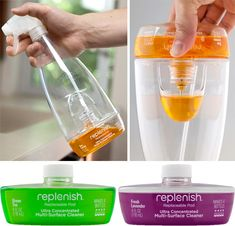 Replenish spray bottle to cut down on packaging; just add water / TechNews24h.com