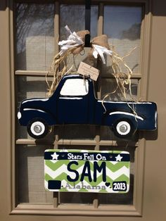 Baby Sam's Hospital Door sign made by Three Crafty Chicks. This will be used in his room once we get home from the hospital :)