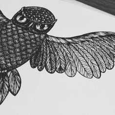 http://facebook.com/dtlecky  #dotwork #tattooart #tattoodesign #owl #mandala #linework #art #sketch