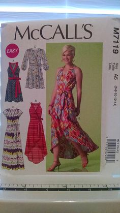 Check out this item in my Etsy shop https://www.etsy.com/listing/539930829/mccalls-m7119-new-uncut-dress-pattern