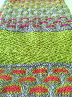 311609e3771 Birmingham is a fingering weight scarf knitted in the round as a tube and  grafted together