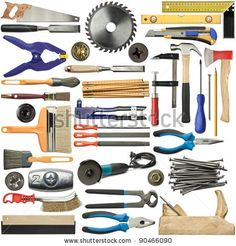 Tools For Wood, Metal And Other Construction Work. Stockfotonummer: 90466090 : Shutterstock