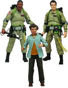 Diamond Select Ghostbusters SERIES 1 Figure Set! WINSTON! RAY! TULLY!