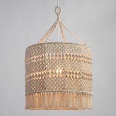 World Market Macrame Lamp Shade... I want to make this!