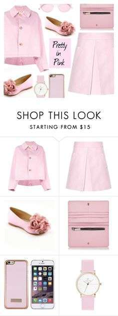 """""""Pretty in Pink"""" by juliehalloran ❤ liked on Polyvore featuring Marni, Ted Baker, Laruze and Garrett Leight"""