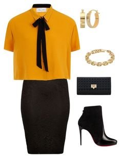 """flyyfashion6"" by codeblacklife on Polyvore featuring River Island, Elvi, Christian Louboutin and Calvin Klein"