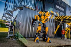 Transformers Experiential Tour - 20ft Cantilevered shipping containers. #events #shippingcontainers #experiential