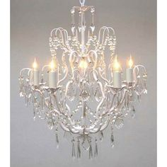 girls room Found it at Wayfair - Versailles 5 Light Crystal Chandelier